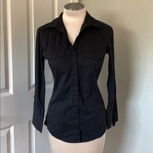 Professional Fitted Button Up Blouse